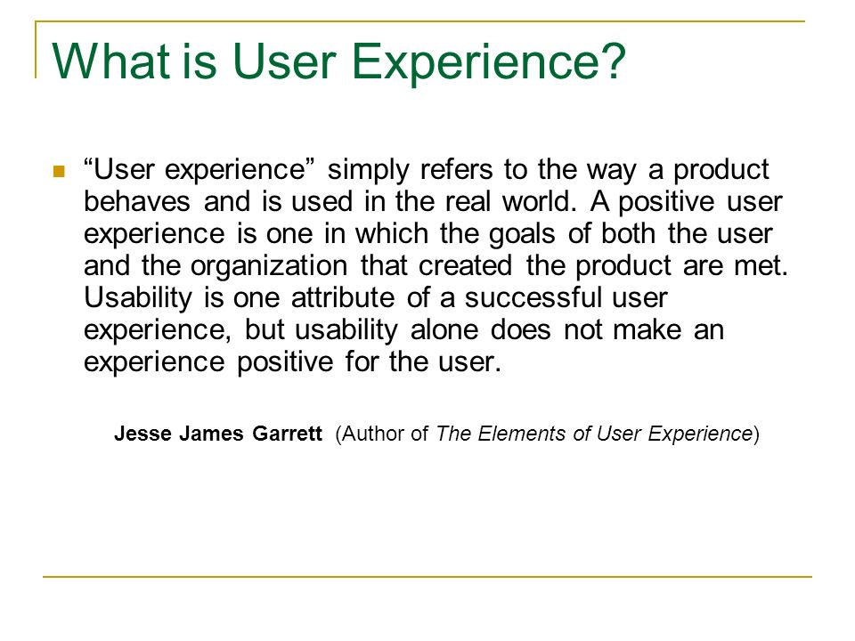 What is User Experience.