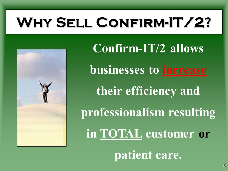 4 Why Sell Confirm-IT/2.