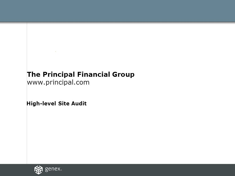 The Principal Financial Group www.principal.com High-level Site Audit