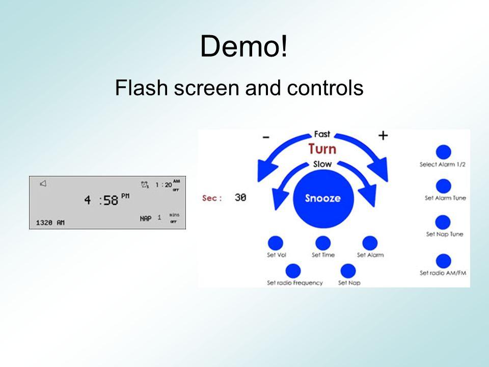 Demo! Flash screen and controls