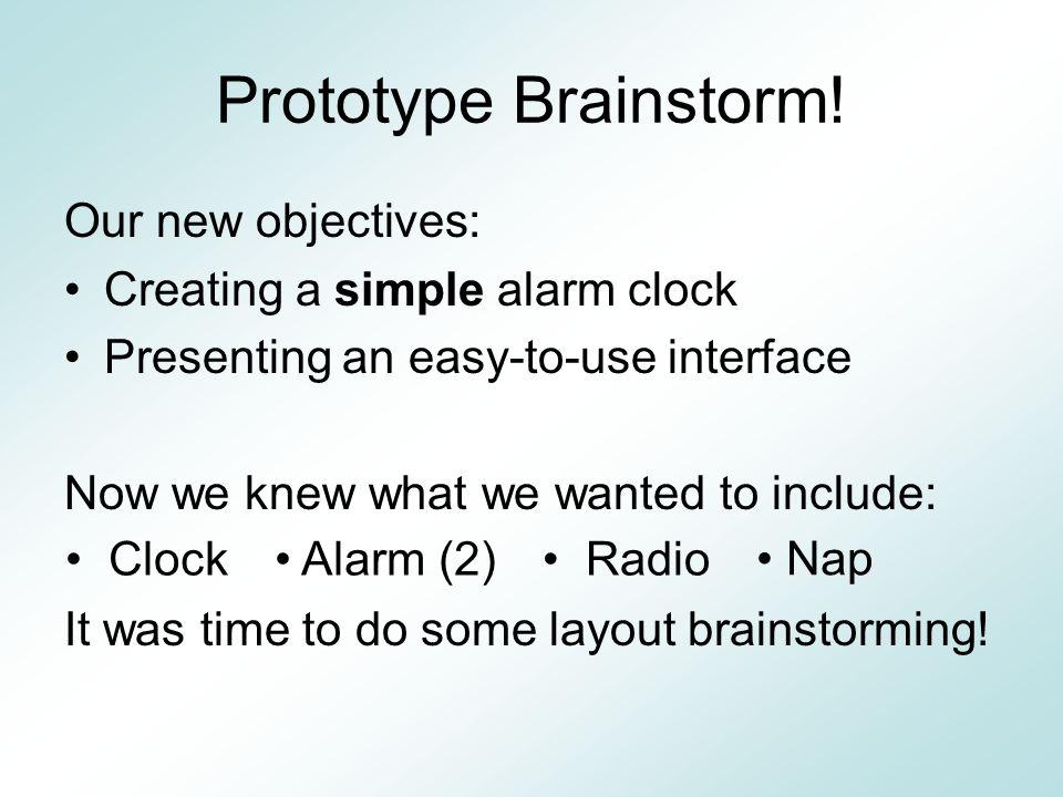 Prototype Brainstorm.