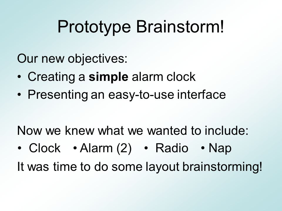 Brainstorming Just a few examples… Control Interfaces Clock Displays