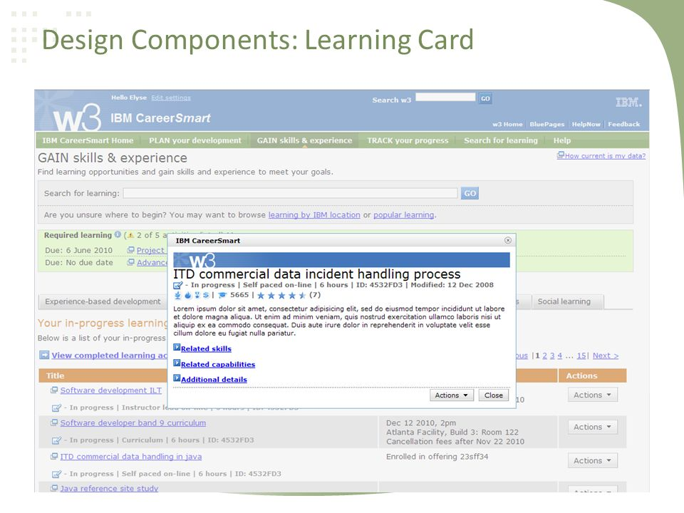 Design Components: Learning Card