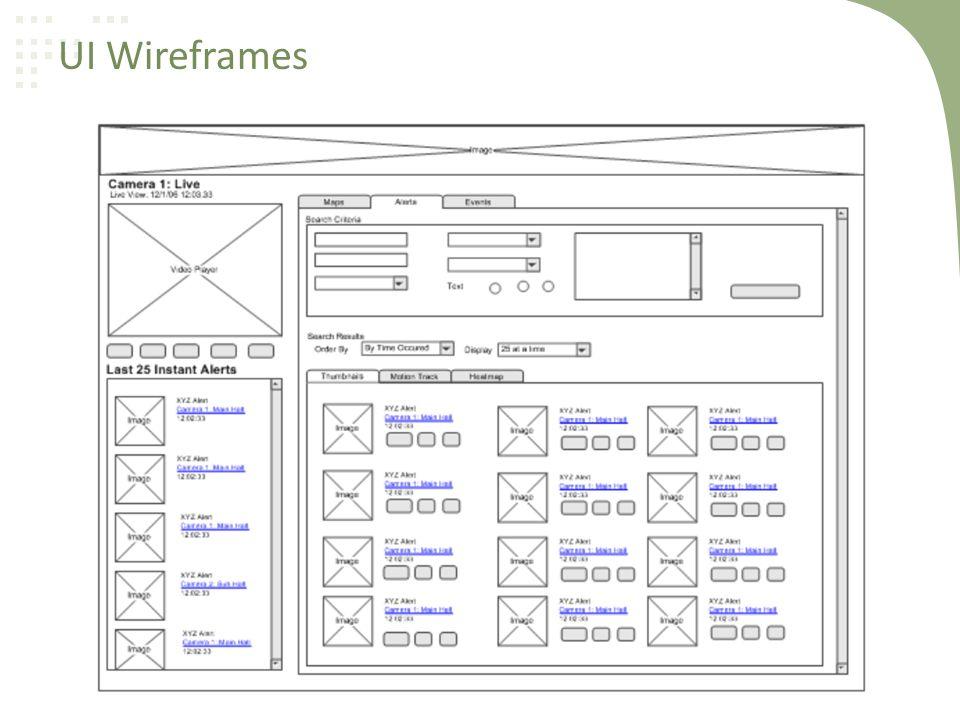 UI Wireframes