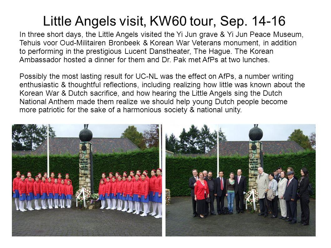 Little Angels visit, KW60 tour, Sep.