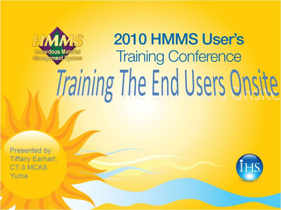 Presented by Tiffany Earhart, CT-3 MCAS Yuma