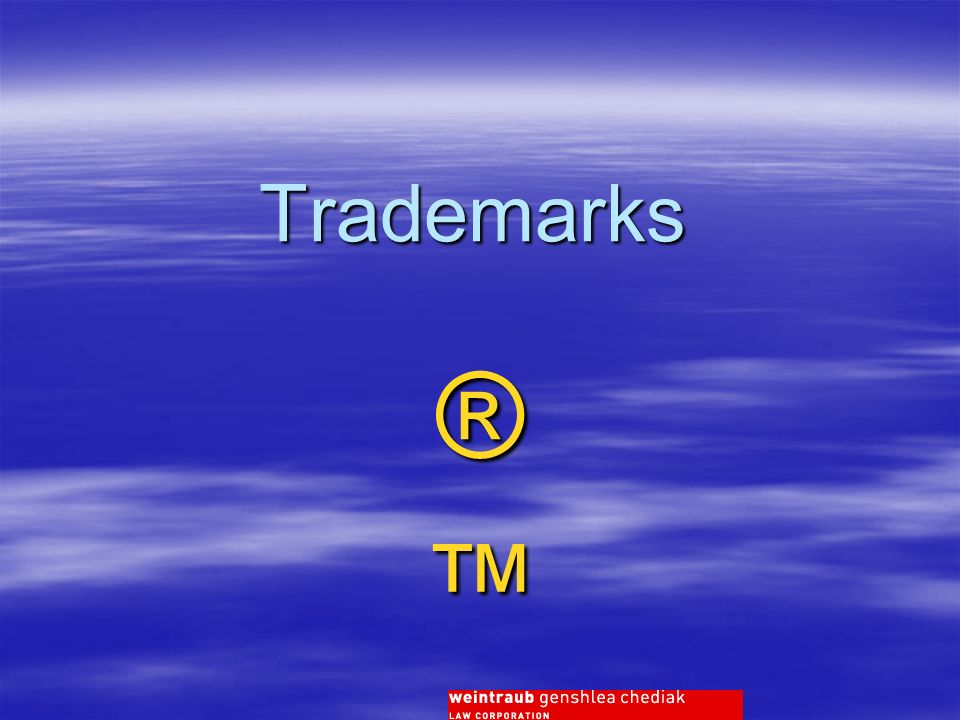 Trademarks ®