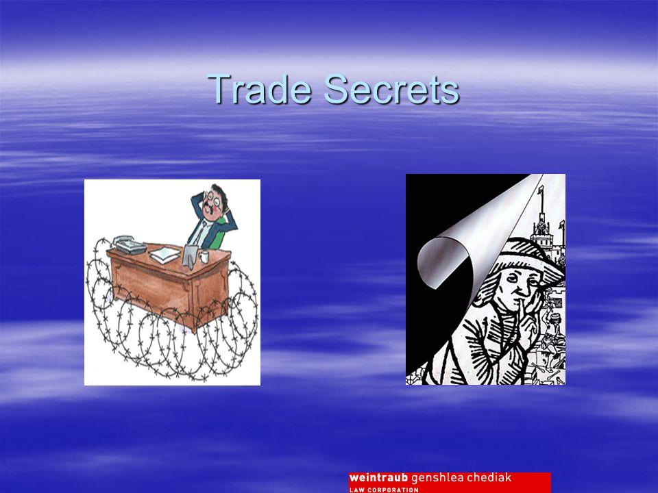 Trade Secrets Trade Secrets