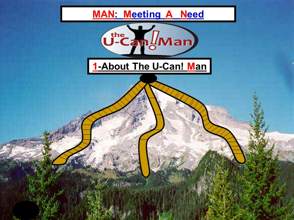 MAN: Meeting A Need 1-About The U-Can! Man