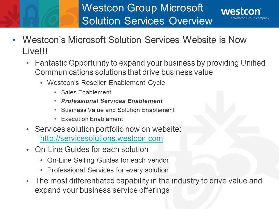 Westcons Microsoft Solution Services Website is Now Live!!.