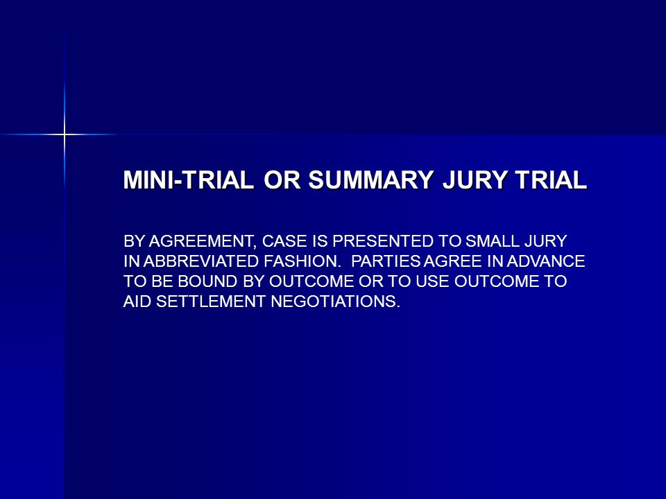 BY AGREEMENT, CASE IS PRESENTED TO SMALL JURY IN ABBREVIATED FASHION.