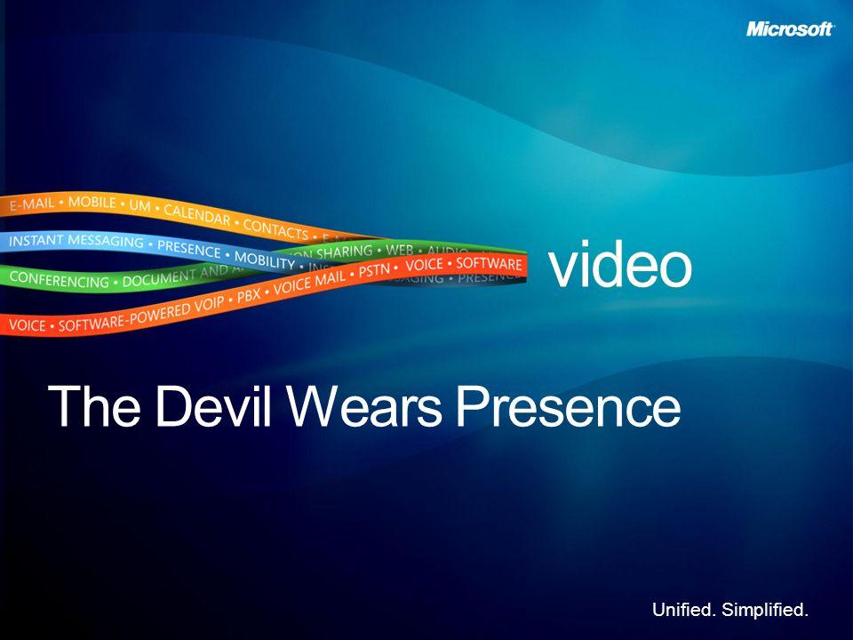 Unified. Simplified. The Devil Wears Presence