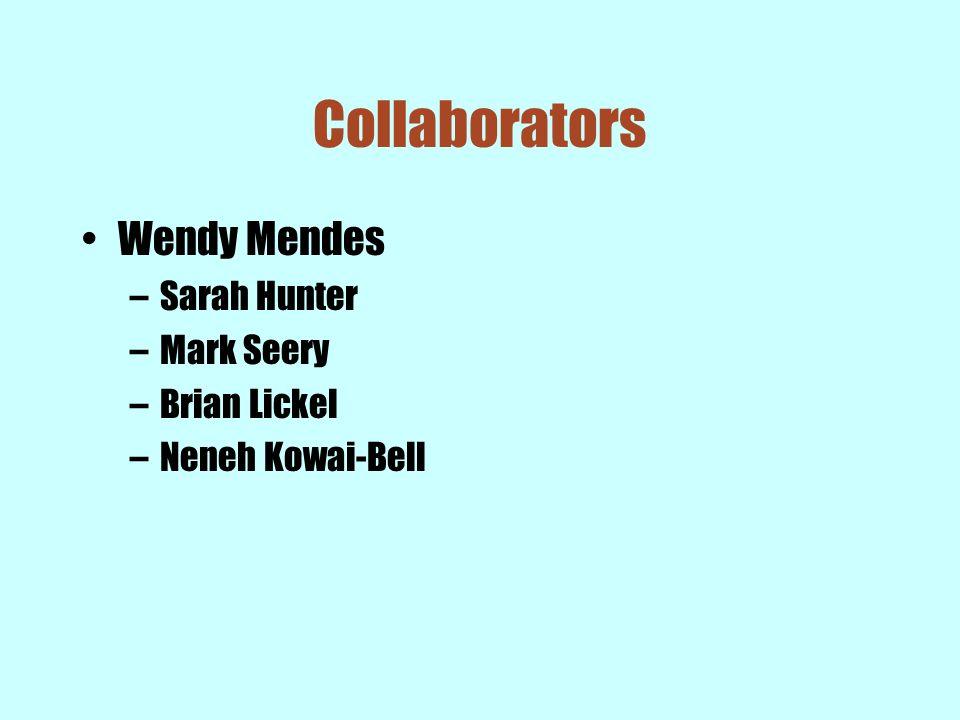 Collaborators Wendy Mendes –Sarah Hunter –Mark Seery –Brian Lickel –Neneh Kowai-Bell
