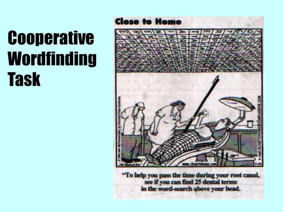 Cooperative Wordfinding Task