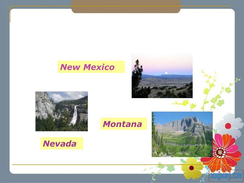 Montana Nevada New Mexico