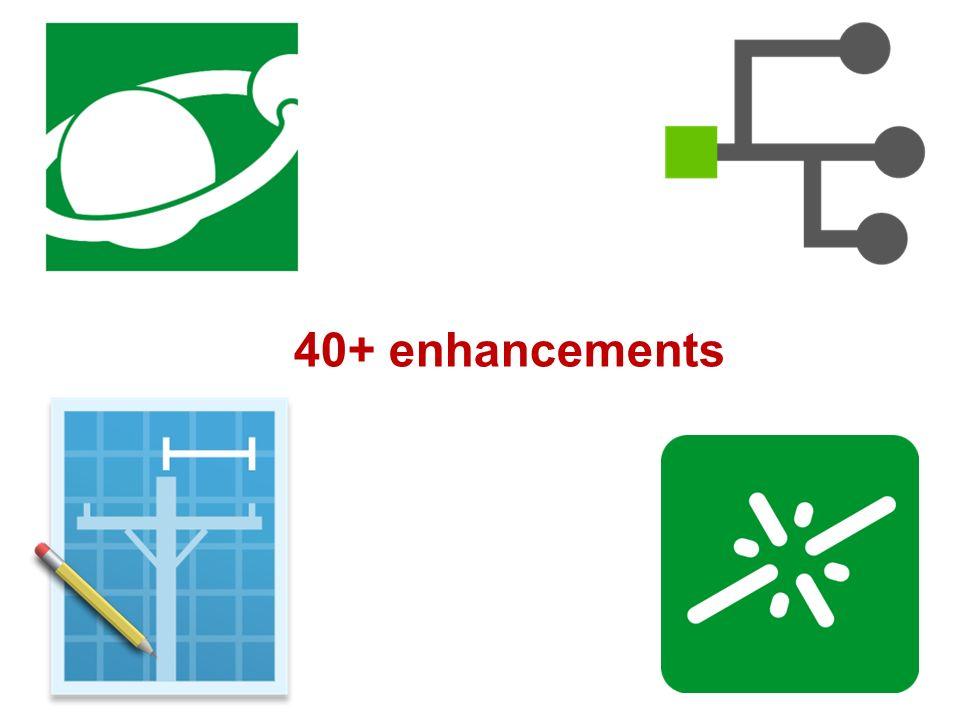 40+ enhancements