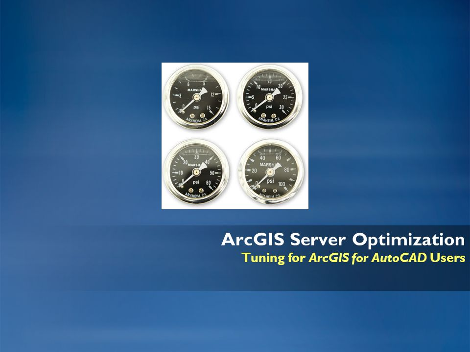 ArcGIS Server Optimization Tuning for ArcGIS for AutoCAD Users
