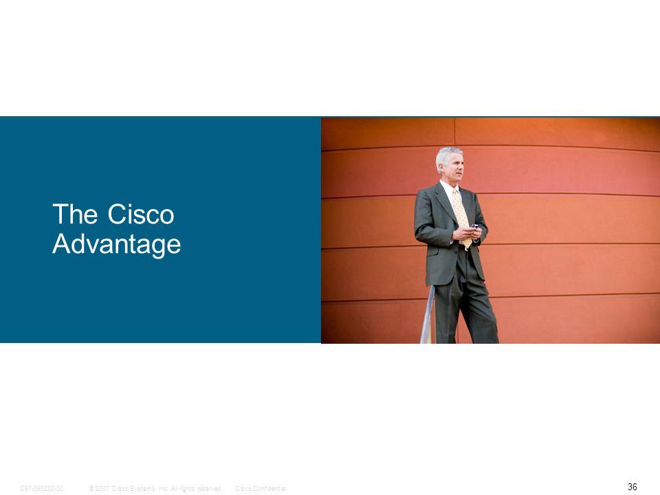 36 © 2007 Cisco Systems, Inc. All rights reserved.Cisco ConfidentialC97-393232-00 The Cisco Advantage