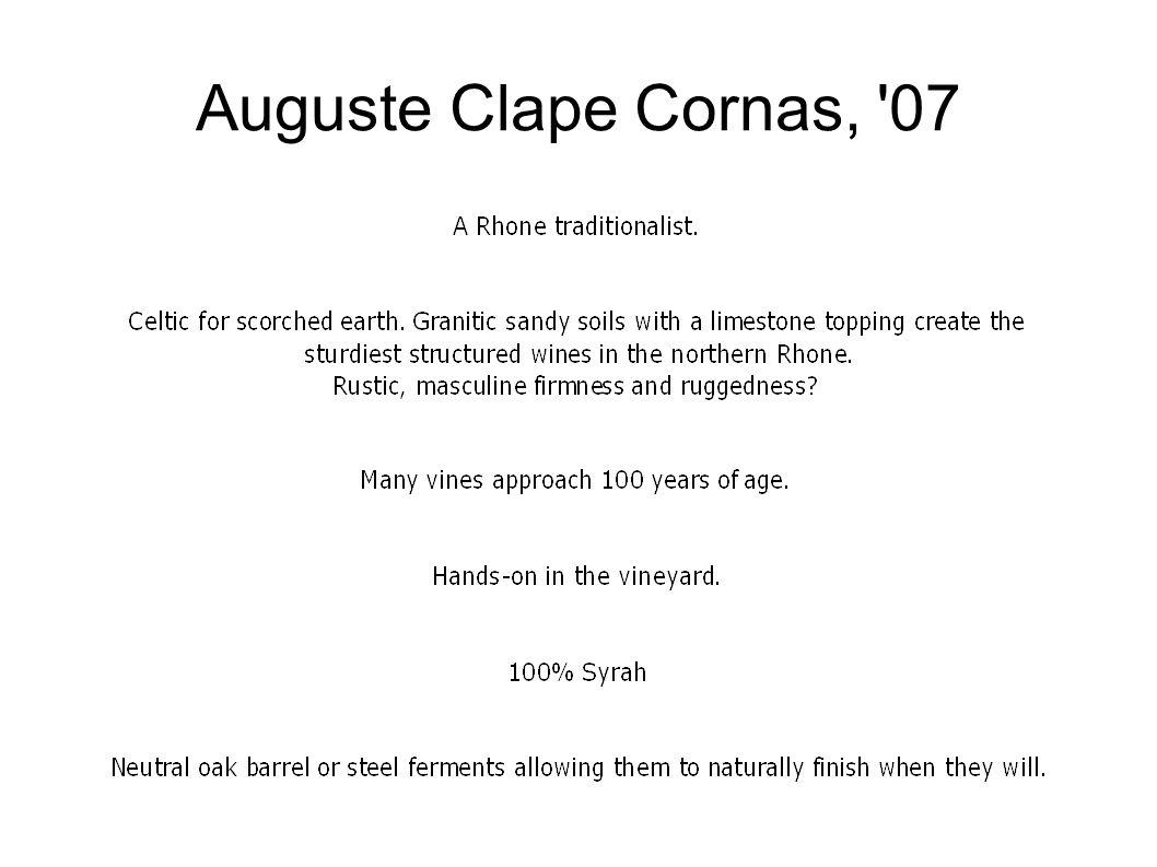 Auguste Clape Cornas, 07