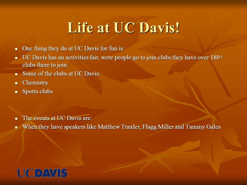 Life at UC Davis.