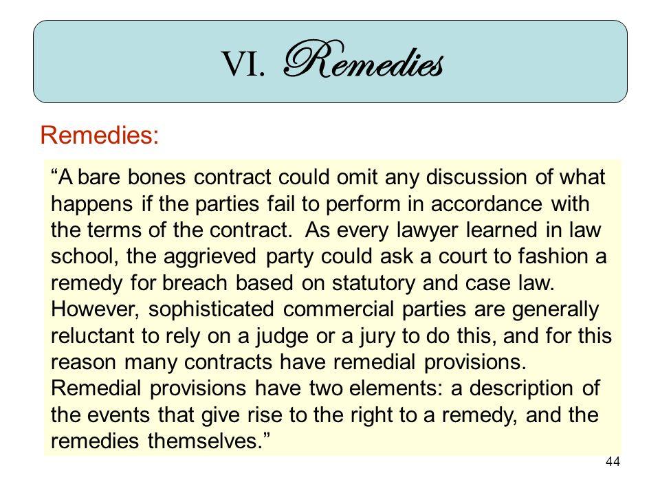 44 Remedies: VI.