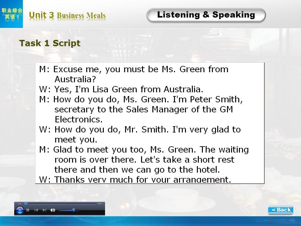 L-1-Script Listening & Speaking Task 1Script Task 1 Script