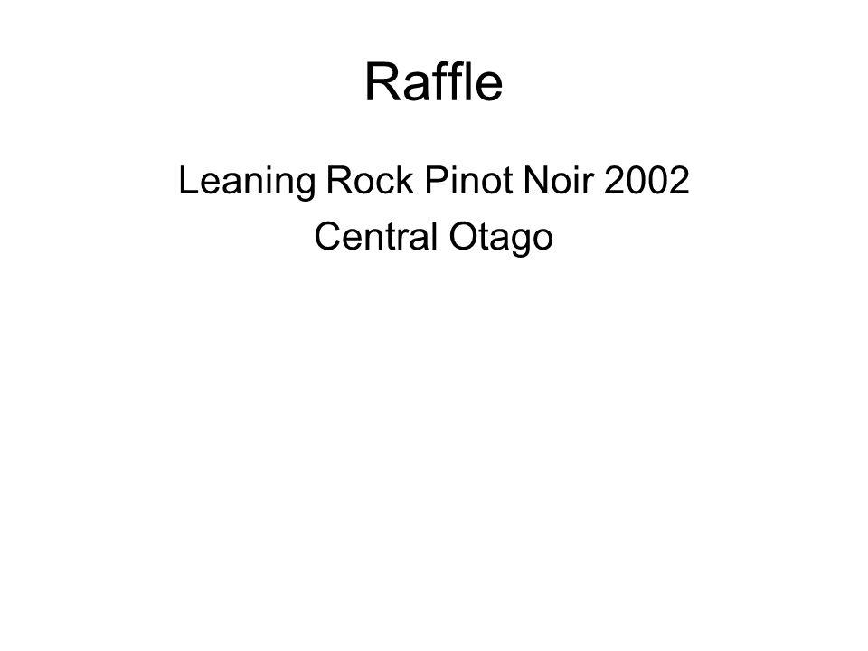 Raffle Leaning Rock Pinot Noir 2002 Central Otago