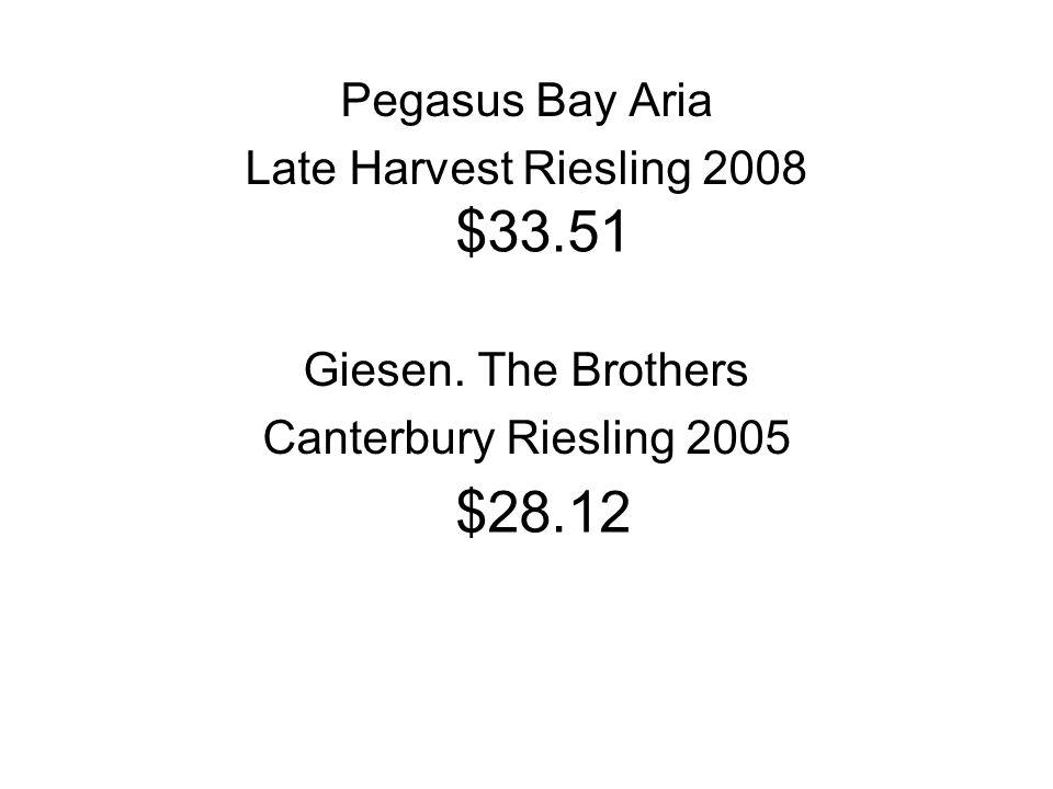 Pegasus Bay Aria Late Harvest Riesling 2008 Giesen.