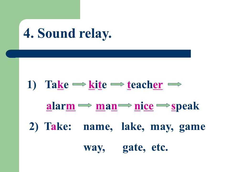 2) Same or different. Ask students to tell whether the sounds are the same or different.