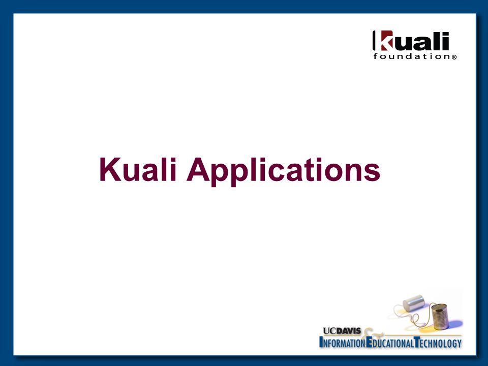 Kuali Applications