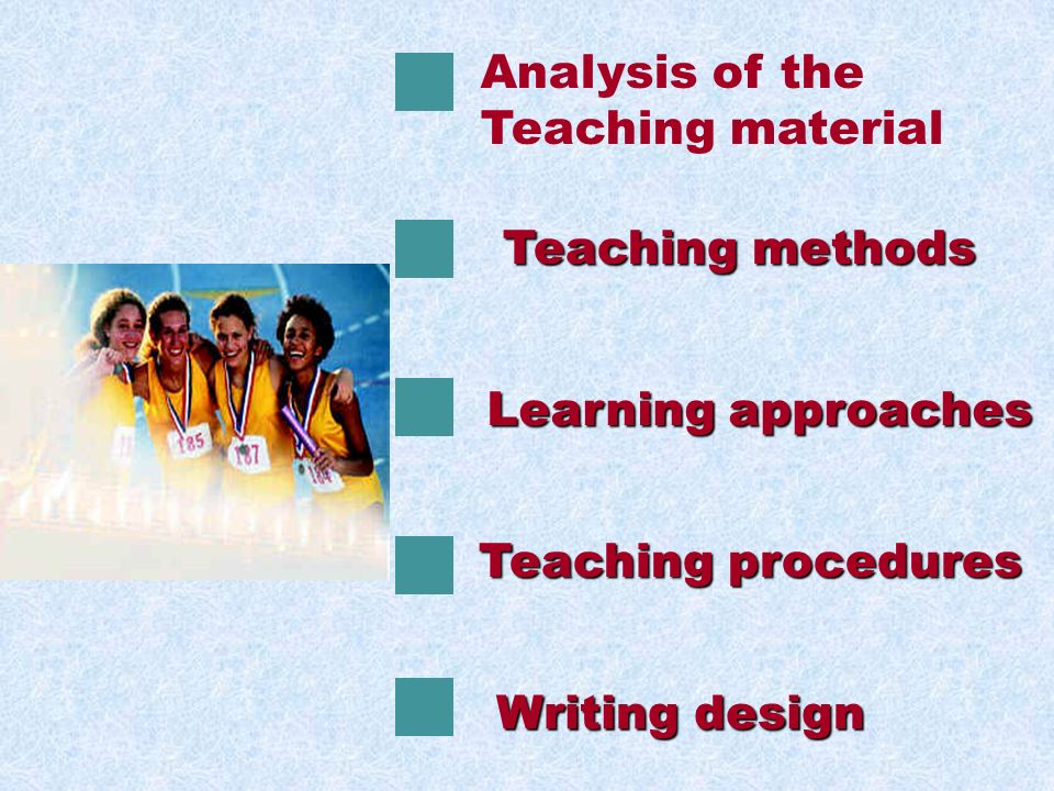 ANALYSIS OF TEACHING MATERIAL status and function teaching aims and demands teaching important points preparation for this class teaching aids teaching difficult points S S P O R T S S