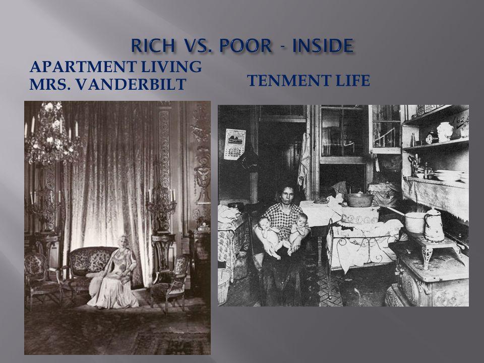 APARTMENT LIVING MRS. VANDERBILT TENMENT LIFE