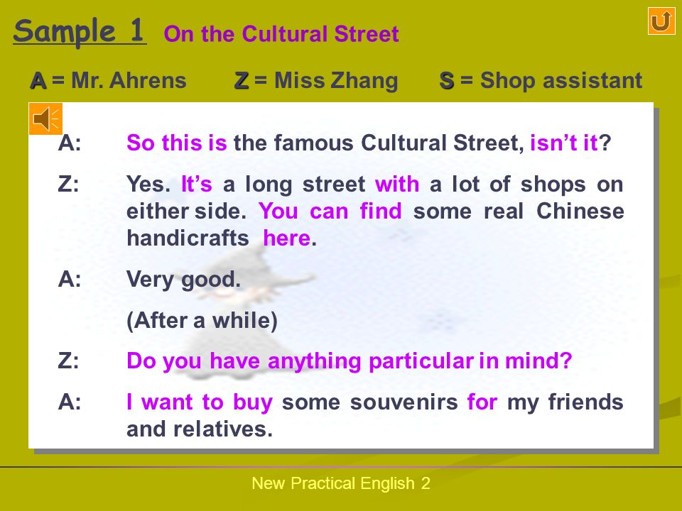 New Practical English 2 Follow the Samples Sample One Sample Two