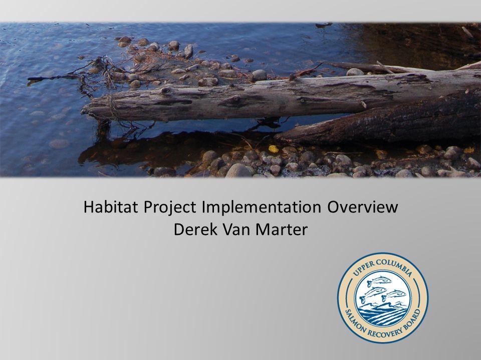 Habitat Project Implementation Overview Derek Van Marter