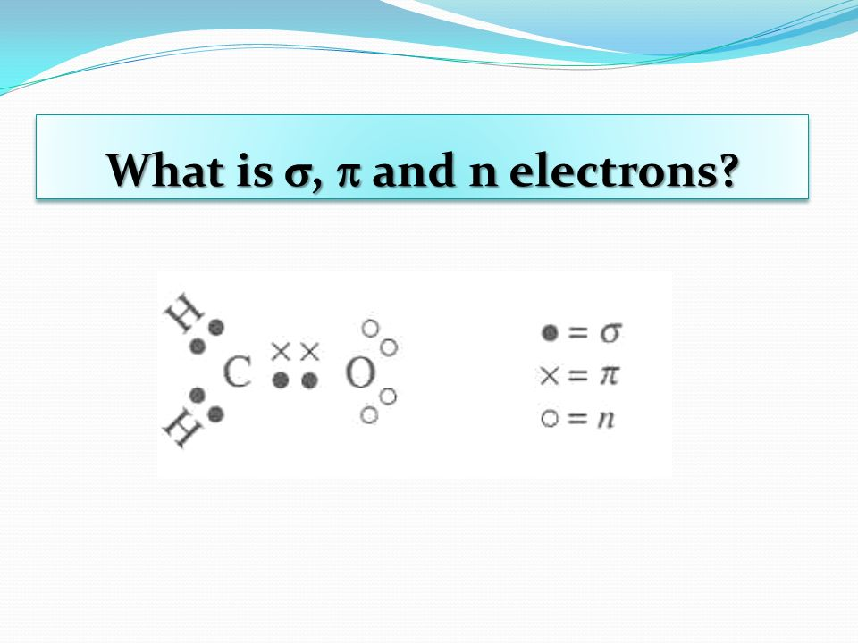 What is σ, and n electrons?
