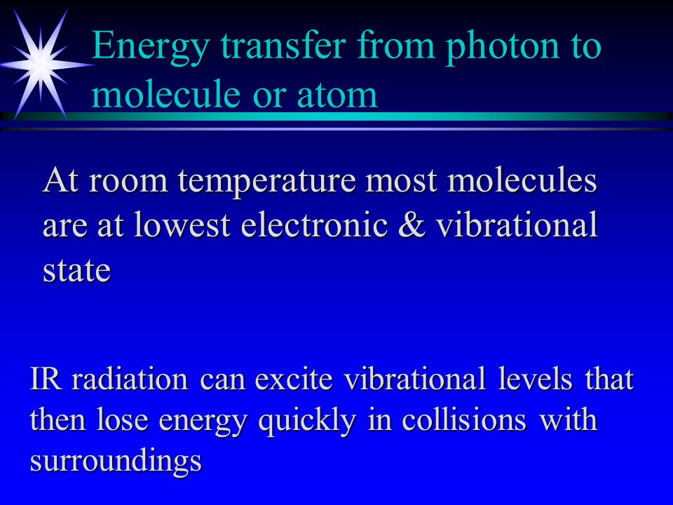 Interaction of radiation & matter ä Electromagnetic radiation in different regions of spectrum can be used for qualitative and quantitative information ä Different types of chemical information