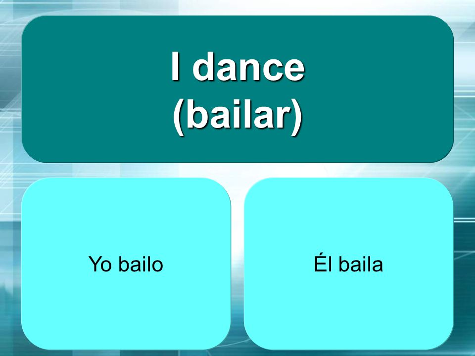 The girl dances (bailar) baila bailas