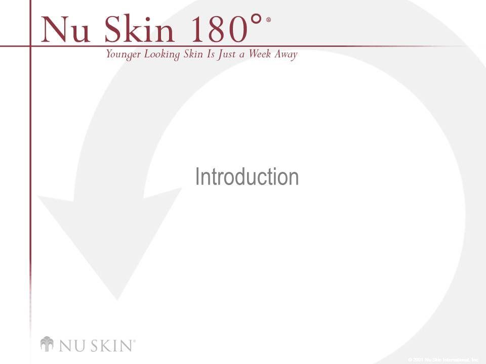 © 2001 Nu Skin International, Inc Introduction