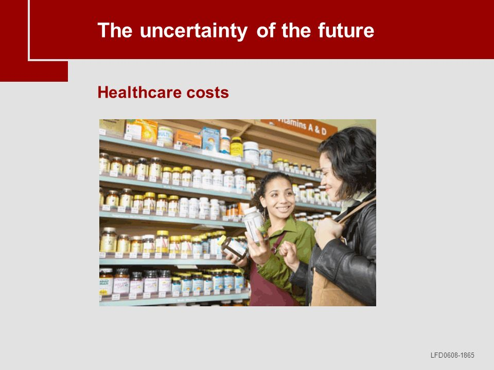 LFD0608-1865 The uncertainty of the future Healthcare costs