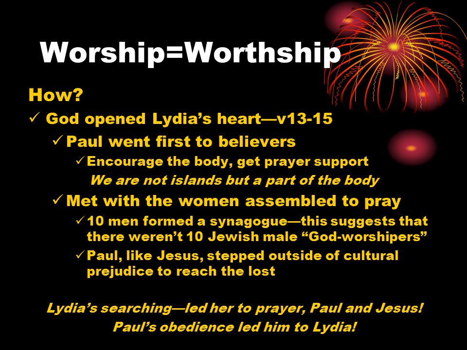 Worship=Worthship How.