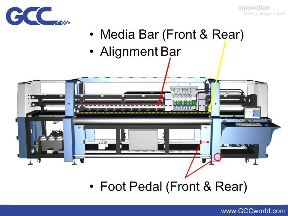Media Bar (Front & Rear) Alignment Bar Foot Pedal (Front & Rear)