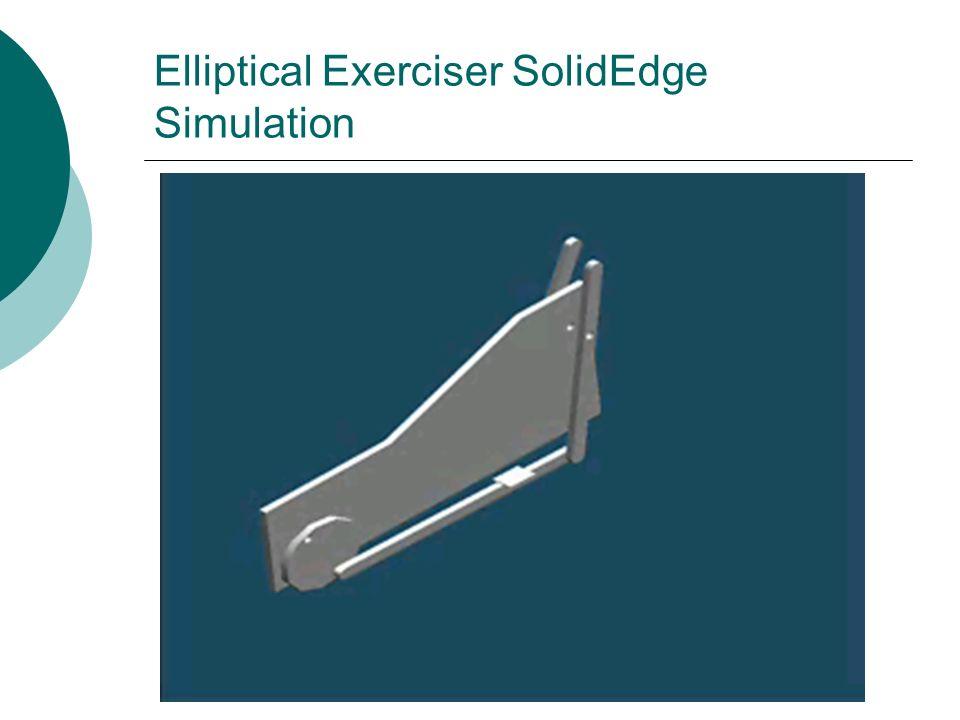 Elliptical Exerciser SolidEdge Simulation
