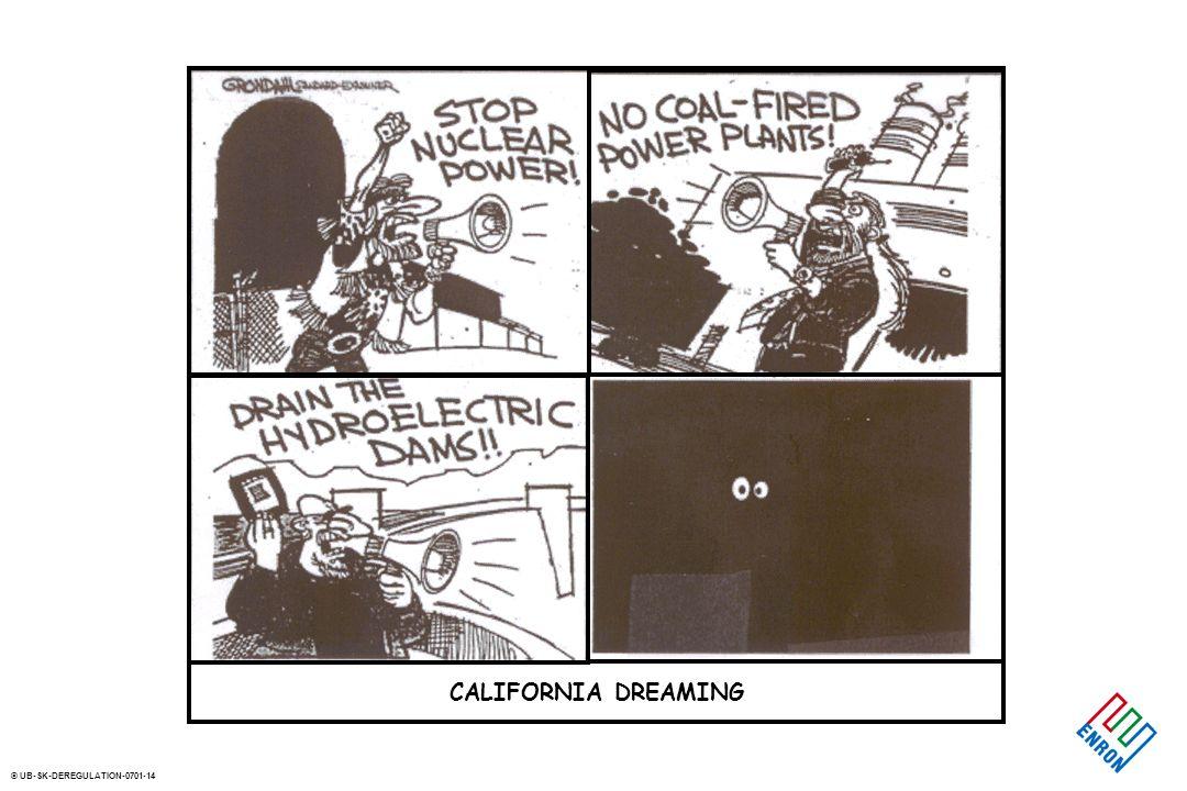 © UB-SK-DEREGULATION-0701-14 CALIFORNIA DREAMING