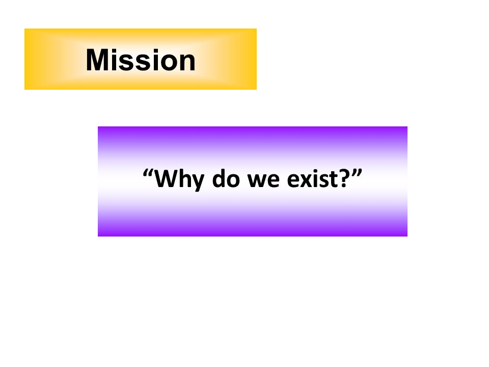 Why do we exist? Mission