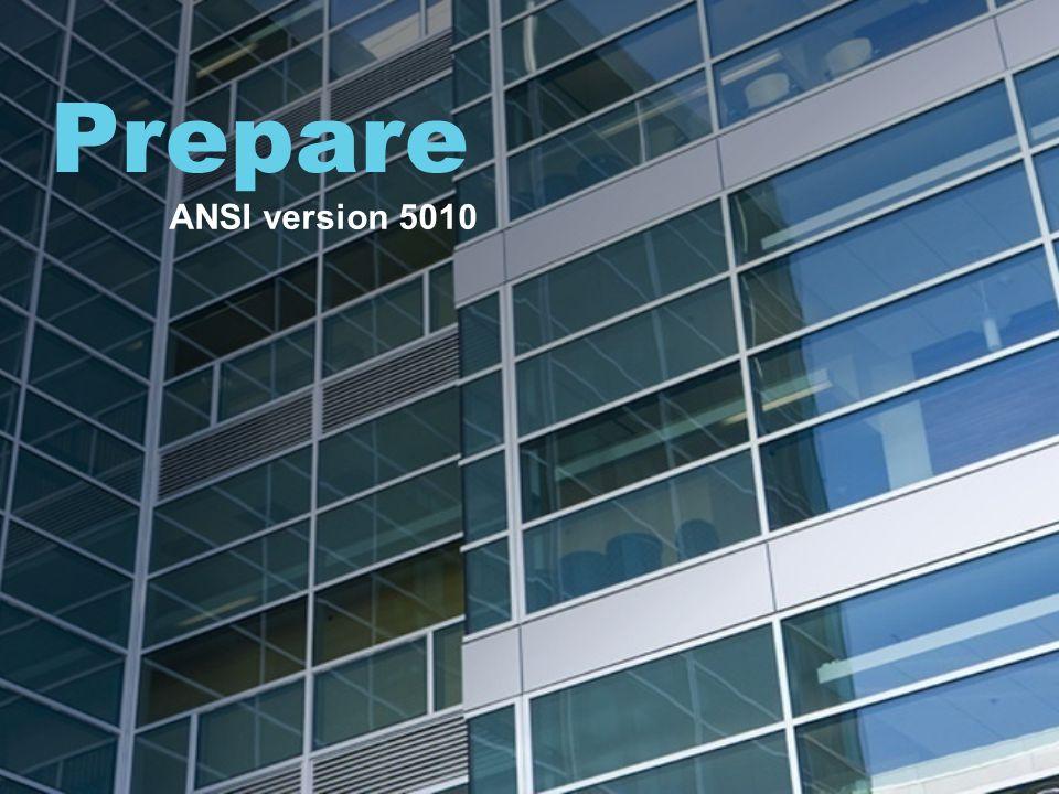Prepare ANSI version 5010