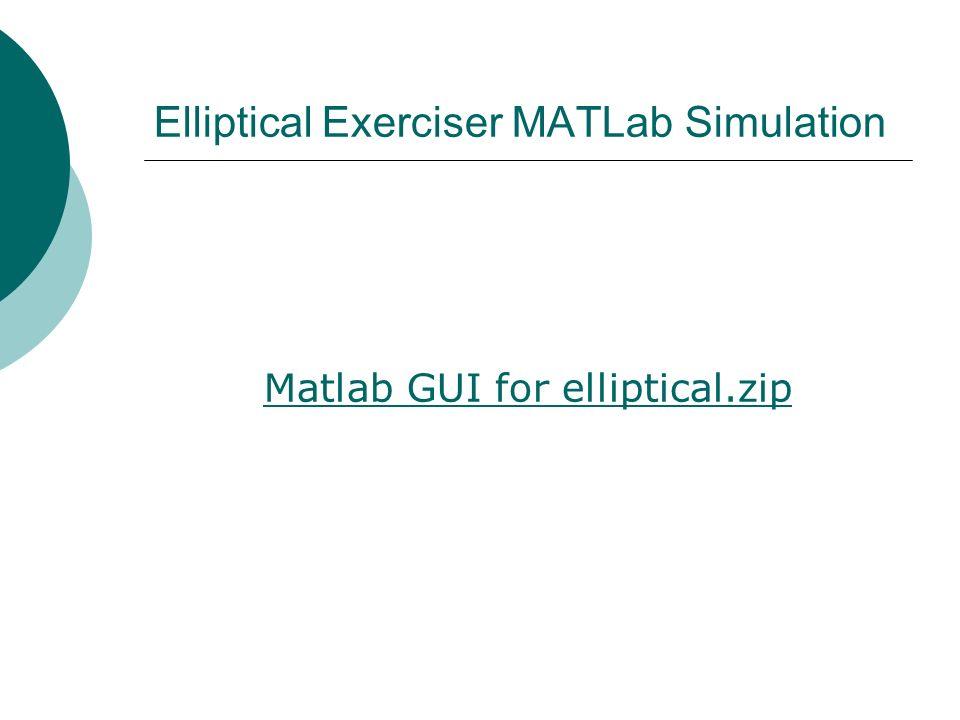 Elliptical Exerciser MATLab Simulation Matlab GUI for elliptical.zip
