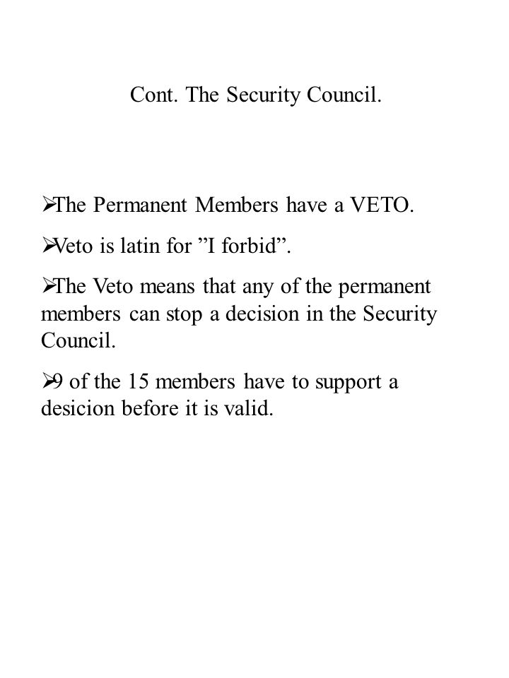 The Power of the Security Council.