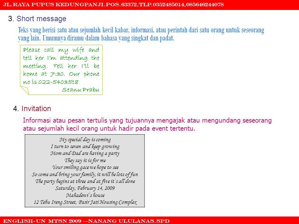Jl.raya pupus kedungpanji.pos.63372,tlp.0352485014,085646244078 English-UN mtsn 2009 nanang ululanas.spd 3.