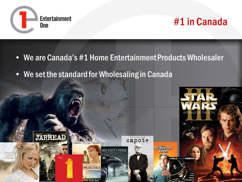 #1 in Canada We are Canadas #1 Home Entertainment Products Wholesaler We set the standard for Wholesaling in Canada