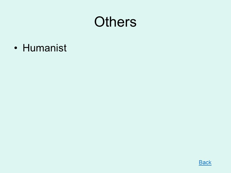 Others Humanist Back